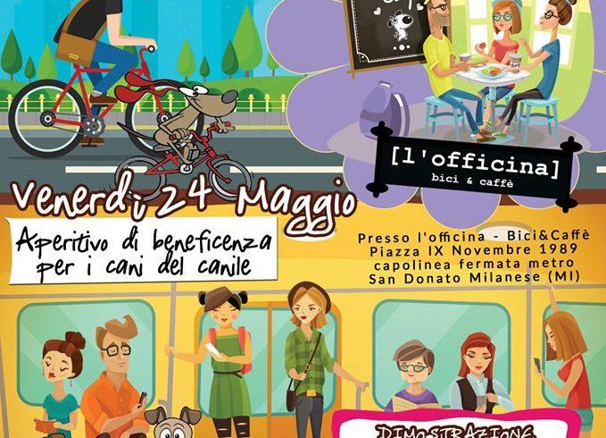 Doggy Stop, Aperitivo 24 Maggio a L'officina bar&bici